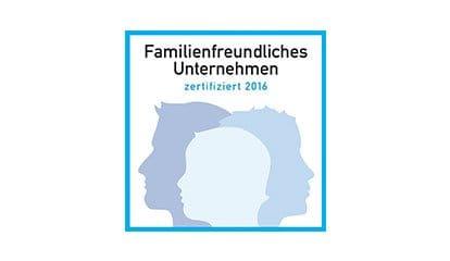Familienfreundliches Unternehmen zertifiziert 2016